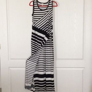 Chico's Collection Black & White Maxi Dress